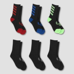 Boys' 6pk Crew Athletic Socks - C9 Champion M, Boy's, Size: Medium, MultiColored found on Bargain Bro Philippines from target for $8.49