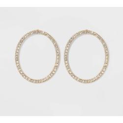 SUGARFIX by BaubleBar Crystal Hoop Earrings - Clear, Women's