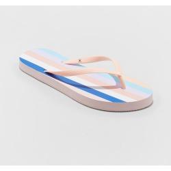 Women's Sara Stripe Flip Flops - Shade & Shore Blush 8 found on Bargain Bro India from target for $3.99