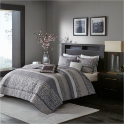 Multicolor Harmony Jacquard Quilt Set (King/California King) 6pc, Gray found on Bargain Bro India from target for $119.99
