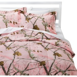 Realtree Nature Inspired Comforter Set - Pink (Queen) found on Bargain Bro India from target for $38.39