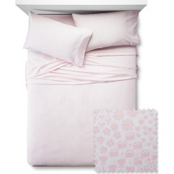 Fetching Florals Sheet Set - Pillowfort , Size: TWIN, Daydream Pink found on Bargain Bro India from target for $16.00