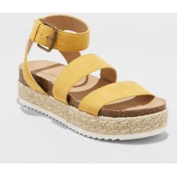 Women's Agnes Quarter Strap Espadrille Sandals - Universal Thread Yellow 9.5