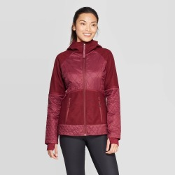 Women's Hybrid Quilted Jacket - C9 Champion Burgundy XS, Red found on Bargain Bro India from target for $49.99