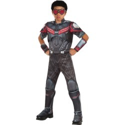 Halloween Marvel's Captain America: Civil War Kids' Deluxe Muscle Chest Falcon Costume S(4-6), Men's, Size: Small(4-6), Gray