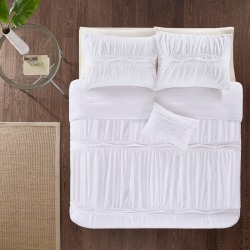 Mervyn Full/Queen 4pc Comforter Set White found on Bargain Bro Philippines from target for $59.99