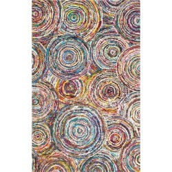 Multi-Colored Abstract Tufted Area Rug - (4'X6') - Safavieh, Multicolored found on Bargain Bro India from target for $206.99