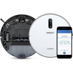 ECOVACS DEEBOT 710 Quiet Multi-Surface Robotic Vacuum Cleaner with Optical Mapping and...