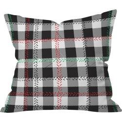 """20""""x20"""" Plaid Zoe Wodarz Cozy Cabin Throw Pillow Black - Deny Designs"""