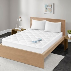 Ensure Waterproof 100% Cotton Sateen Quilted Down Alternative Mattress Pad (California King) White found on Bargain Bro India from target for $33.75