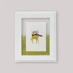 """4"""" x 6"""" White Float Frame with Gold Accent - Opalhouse"""