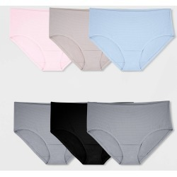 Fruit of the Loom Women's Breathable Low Rise Briefs 4+2 Bonus Pack - 5, Women's, MultiColored found on Bargain Bro India from target for $9.99