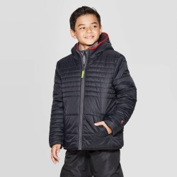 Boys' Reversible Puffer Jacket - C9 Champion Black XS, Boy's found on Bargain Bro India from target for $34.99