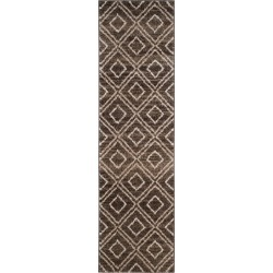 Brown/Creme Abstract Loomed Runner - (2'3x8' Runner) - Safavieh found on Bargain Bro India from target for $79.99