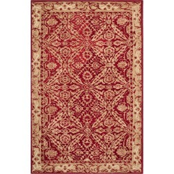 Red/Ivory Floral Tufted Accent Rug 3'X5' - Safavieh, RednIvory