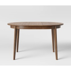 Astrid Mid Century Round Dining Table with Extension Leaf Brown - Project 62 found on Bargain Bro India from target for $254.99