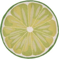 Green Lime Slice Kitchen Rug (3' Round) - Liora Manne