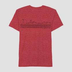 petiteMen's Short Sleeve NYC Thin Line Skyline Graphic T-Shirt - Awake Red XL