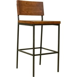Sawyer Wood/Metal Bar Stool Java Pine - Progressive found on Bargain Bro India from target for $129.99