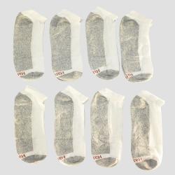 Men's Hanes 8pk Low Cut Socks With FreshIQTM - White, Size: Small