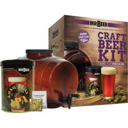 Mr. Beer Long Play IPA Craft Beer Making Kit, Brown