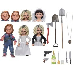 "Bride of Chucky Ultimate Chucky & Tiffany 7"" Action Figure 2pk"