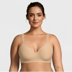 Beauty by Bali Women's Foam Wirefree Bra B540 - Nude Dot 42D found on Bargain Bro Philippines from target for $22.99