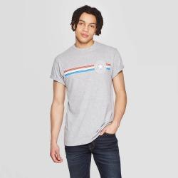 petiteMen's Short Sleeve Crewneck Lone Star Graphic T-Shirt - Modern Lux Gray XL