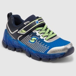 Boys' S Sport by Skechers Nenzo Performance Athletic Shoes - Blue 13, Blue Green Silver