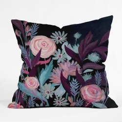 """18""""x18"""" Stephanie Corfee In The Mood Throw Pillow Black - Deny Designs, Pink Blue Black"""