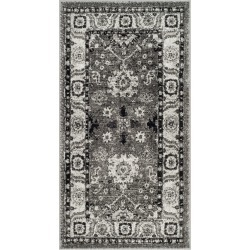2'7X5' Floral Loomed Accent Rug Gray/Black - Safavieh
