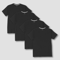 Hanes Premium Men's 4pk Crew Neck T-Shirt - Black XL, Men's found on Bargain Bro Philippines from target for $20.99