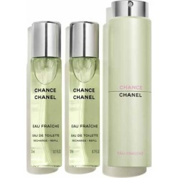 Chanel Chance Eau Fra?che Eau De Toilette Twist & Spray 60ml (3x20ml) found on Makeup Collection from The Fragrance Shop for GBP 83.68