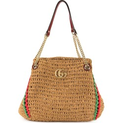 Gucci - Neutral Women's GG Marmont Raffia Bag - The Webster