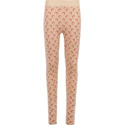X The Webster Tan And Pink Moon Print Leggings