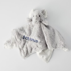 Elephant Baby Embroidered Security Blanket