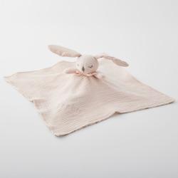 Blush Bunny Organic Baby Security Blanket