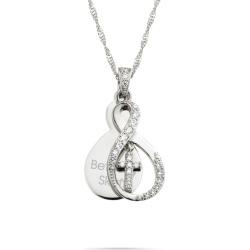 Silver Infinity Cross Swing Necklace