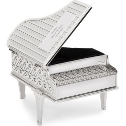 Silver Piano-Shaped Music Box