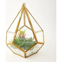 Hanging Terrarium with Faux Succulents