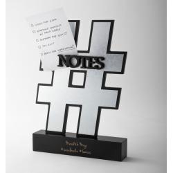 Hashtag Notes Holder Desk Accessory