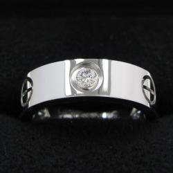 Cartier love ring / half diamond #51 (the Japanese size 11 neighborhood)