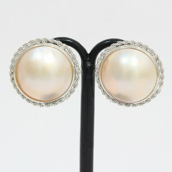 Pearl Pteria penguin pearl earrings 14-karat gold white gold (K14WG) jewelry netshop