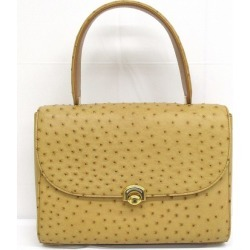 Ostrich leather camel handbag Lady's ★★ found on Bargain Bro India from Rakuten Global for $164.00