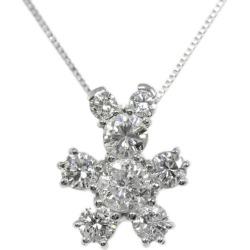 Doll motif, 8P diamond necklace pendant /K18/750 X Pt900 combination -3.1g/ (0.386+0.194) 0.58ct/FD: 0.57ct/ center jewel research institute / white gold X platinum color /i190803 ★■ 301972