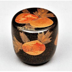 Silvery ground Yasushi Nakamura storehouse in the tea service set jujube (jujube) Jujube shellfish pine lacquer work
