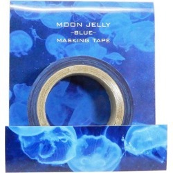 To 20mm マステ JERRY FISH masking tape jellyfish blue Jay M petit gift DECO tape aquarium mail order 10/29