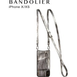 Band re-yeah BANDOLIER iPhone XS X case smartphone carrying eyephone EMMA SILVER WAVE men gap Dis silver 10EMM
