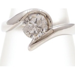 PT900 platinum ring 16 diamond 1.002 appraisal used jewelry ★★ giftwrapping for free