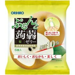 ぷるんと konjac jelly pouch pear (24 bags of sets) / ORIHIRO regular article